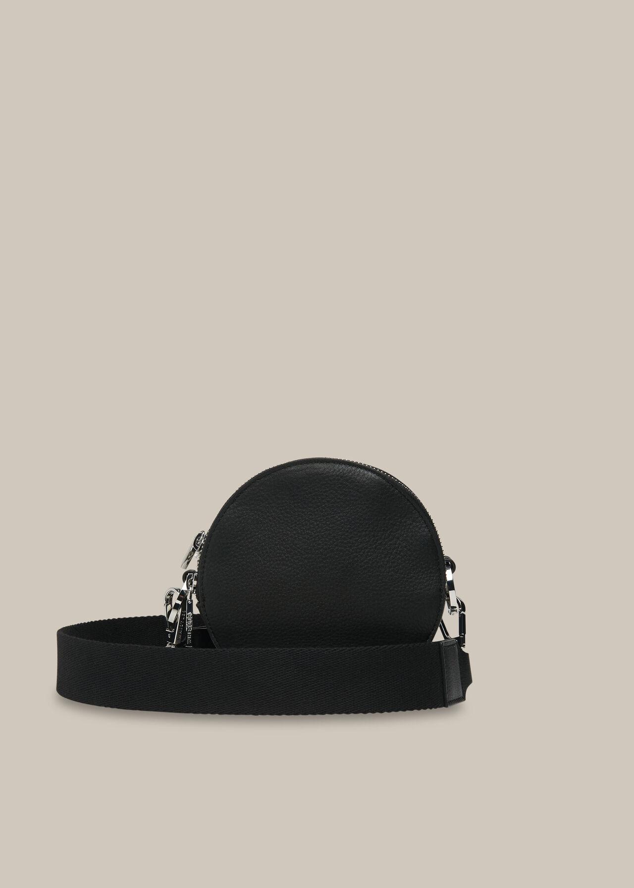 Cole Round Crossbody Bag Black