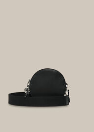Cole Round Crossbody Bag Black