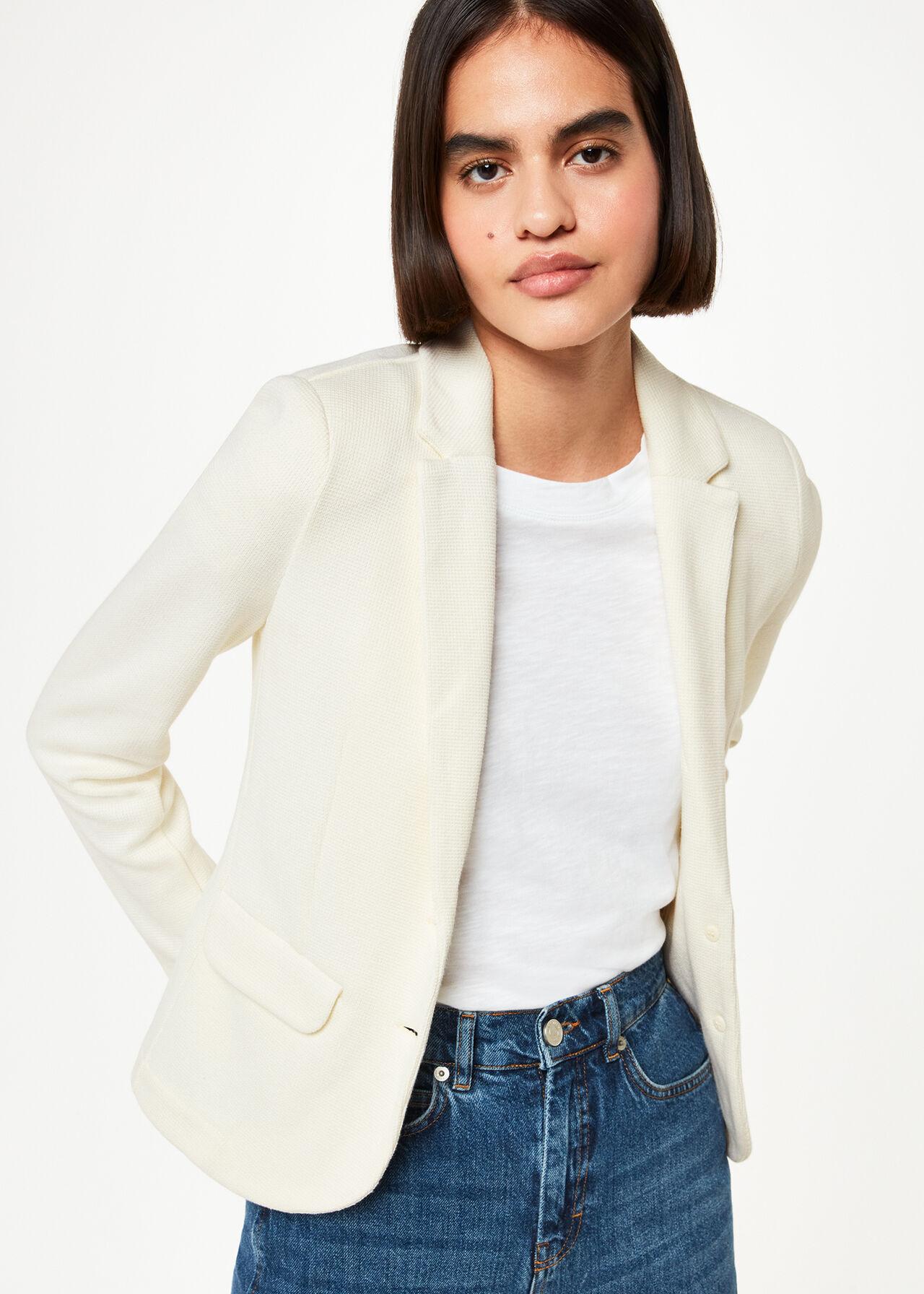 Slim Jersey Jacket Ivory