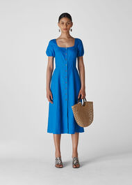 Remi Linen Dress Blue