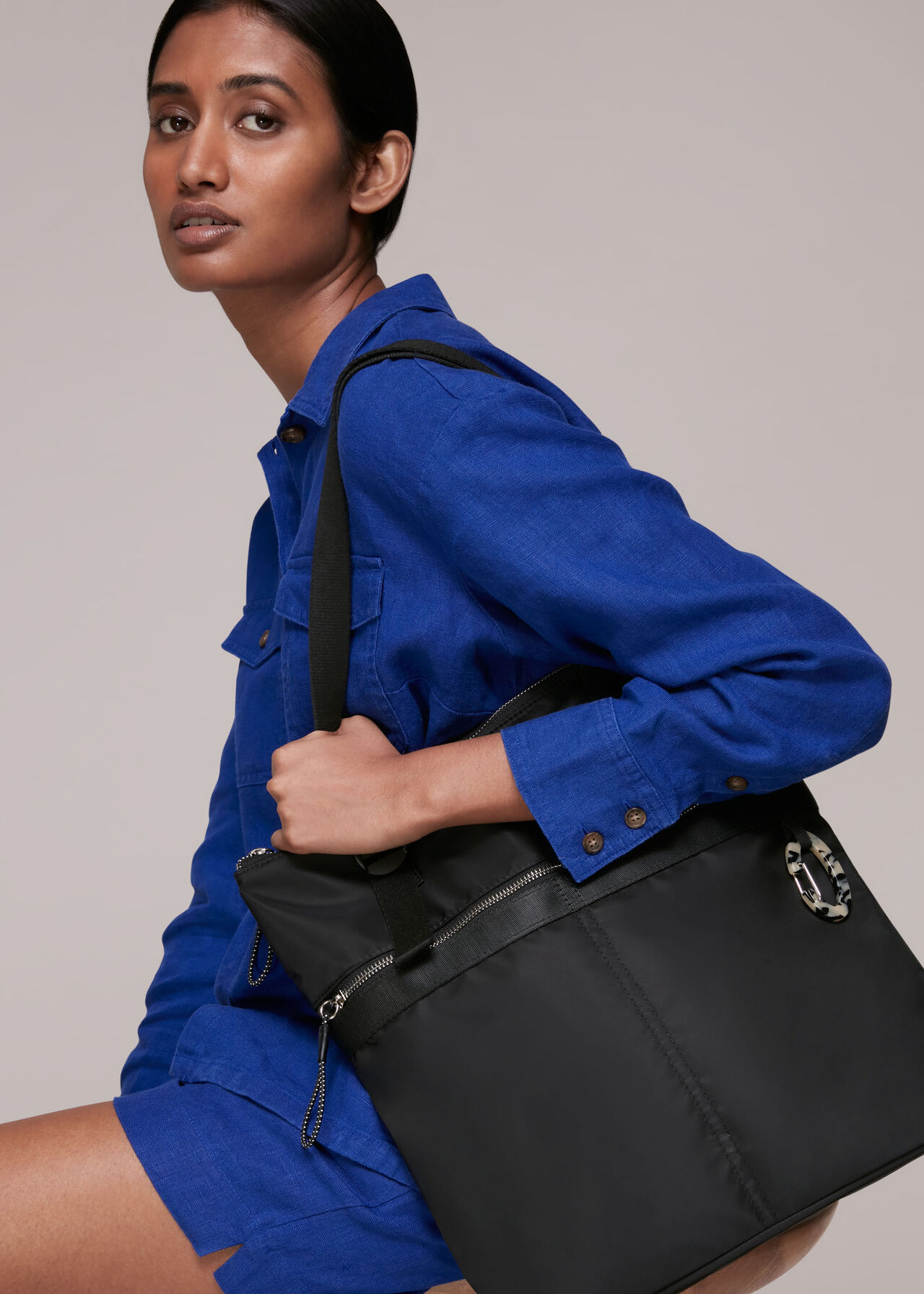 Rona Nylon Tote Bag