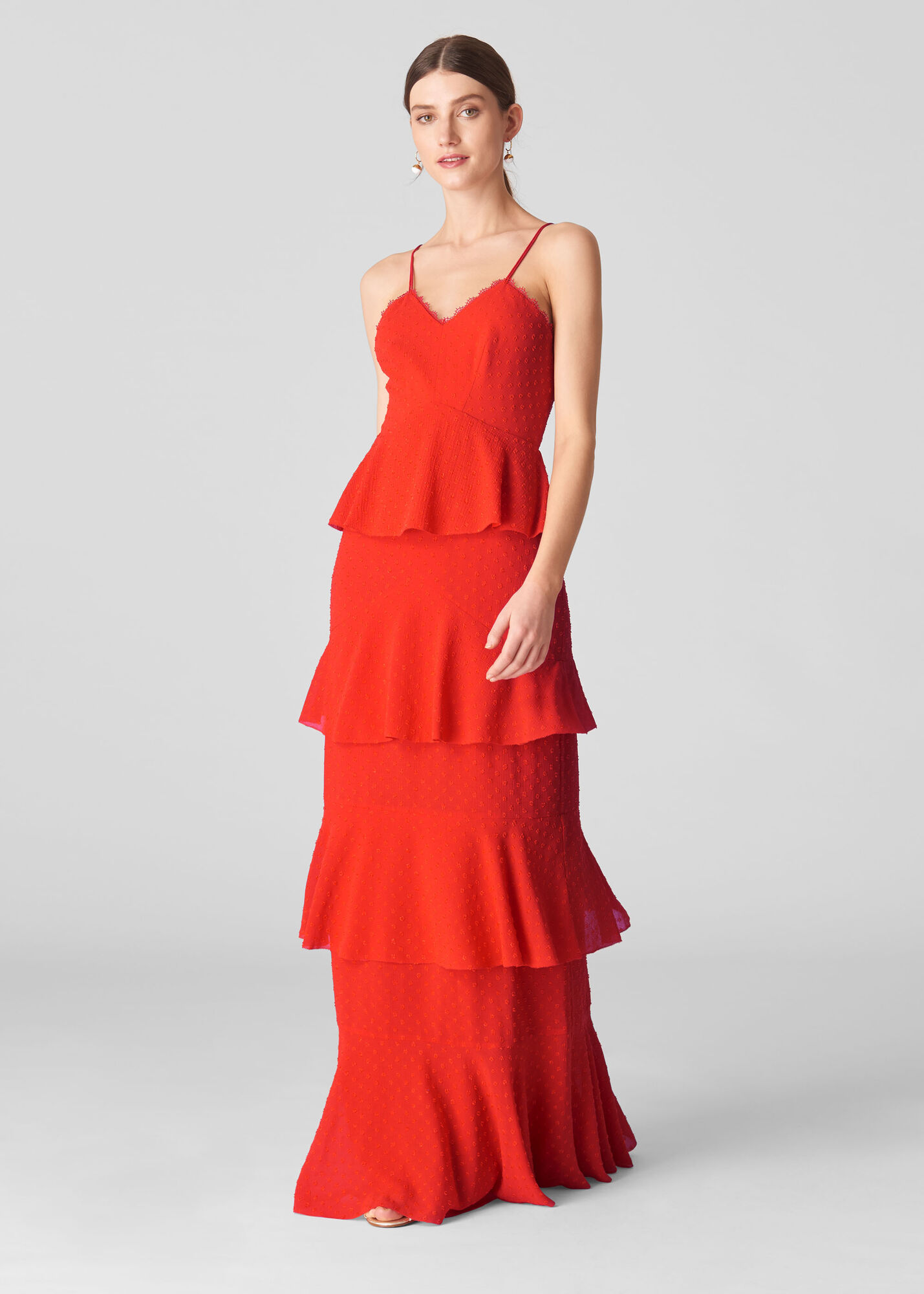 Anette Dobby Tiered Maxi Dress