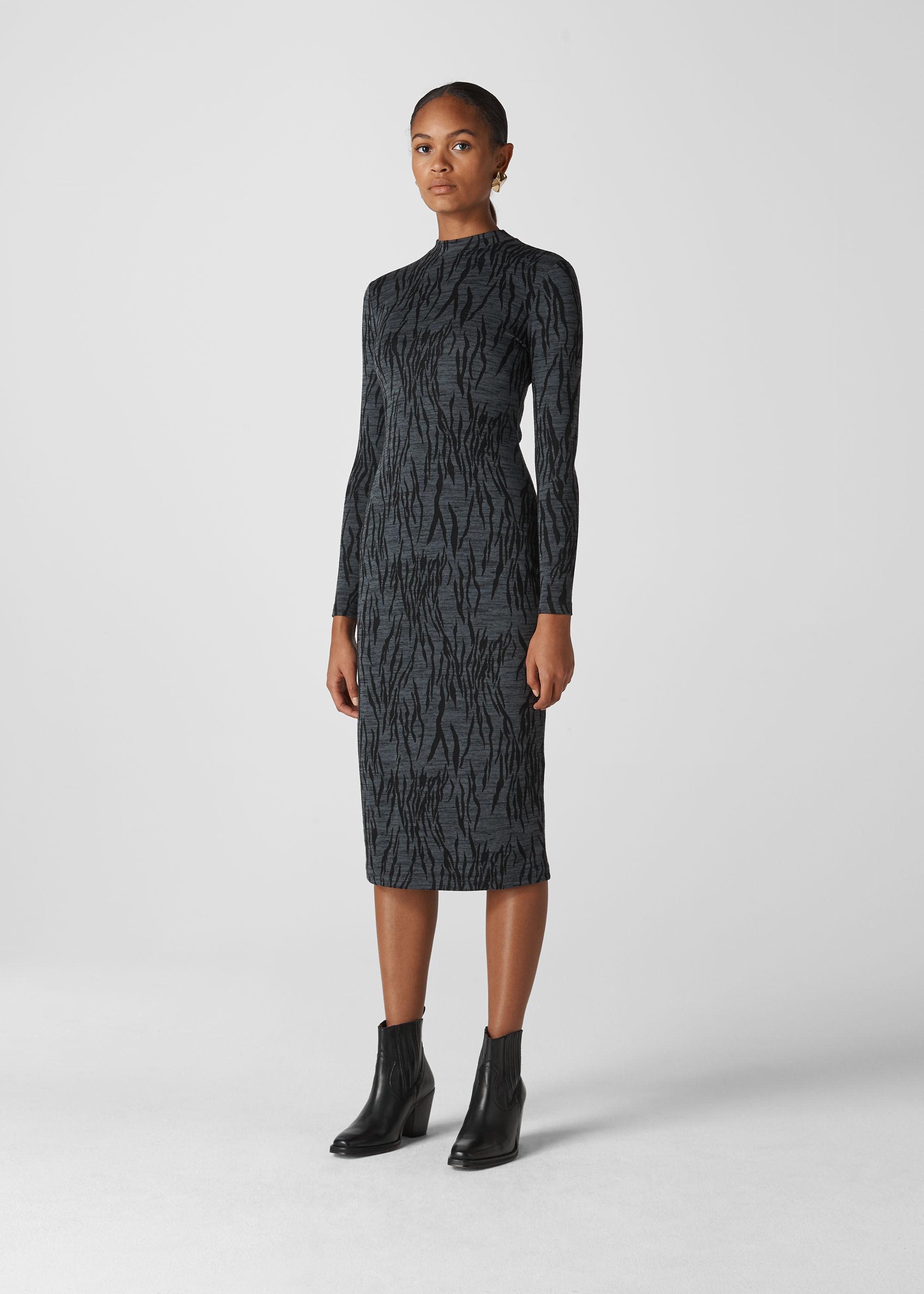 Whistles Women Zebra Jersey Dress