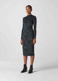 Zebra Jersey Dress Grey/Multi