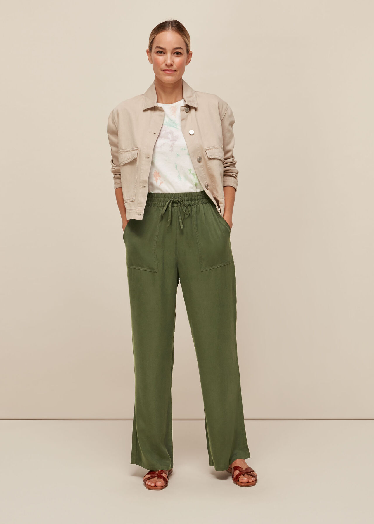 Washed Wide Leg Trouser