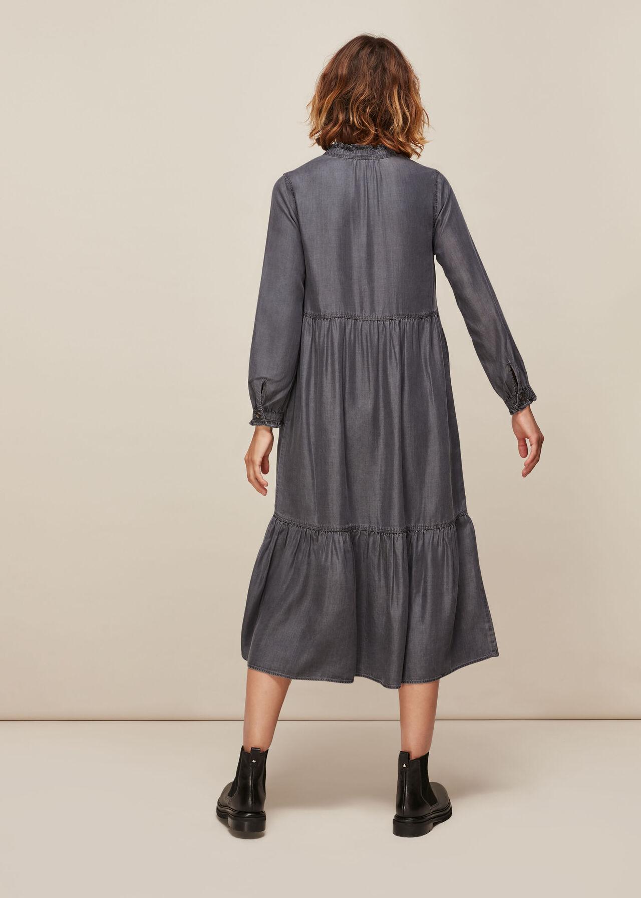 Denim Trapeze Dress