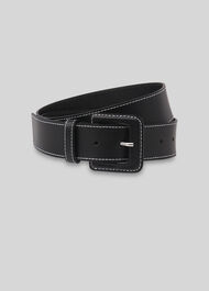 Contrast Stitch Belt Black