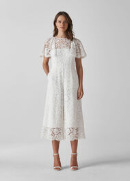 Victoria Lace Wedding Jumpsuit Ivory
