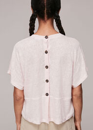 Button Back Linen Tee