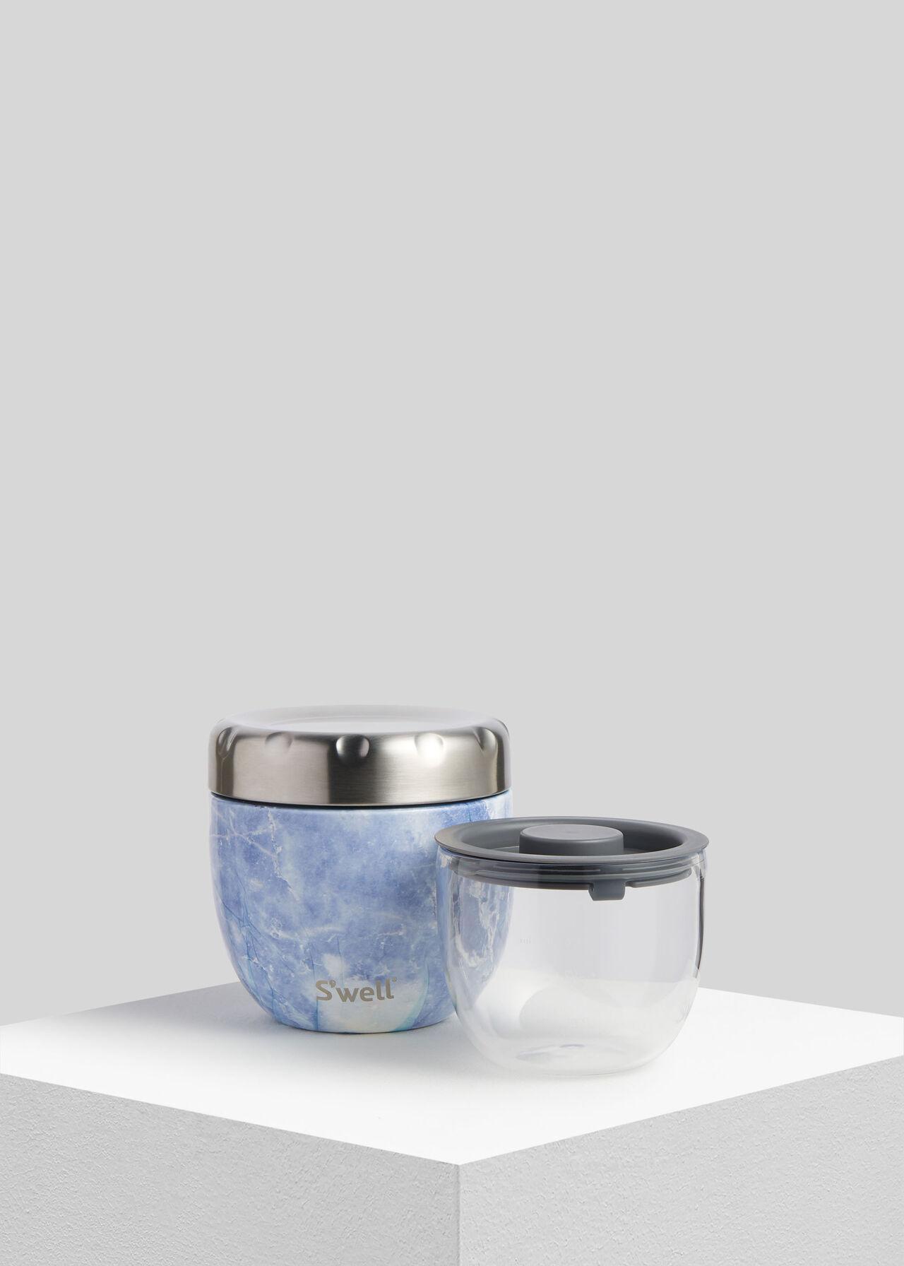 Swell Eats Granite Food Bowl Blue/Multi