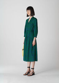 Valeria Henna Shirt Dress Green/Multi