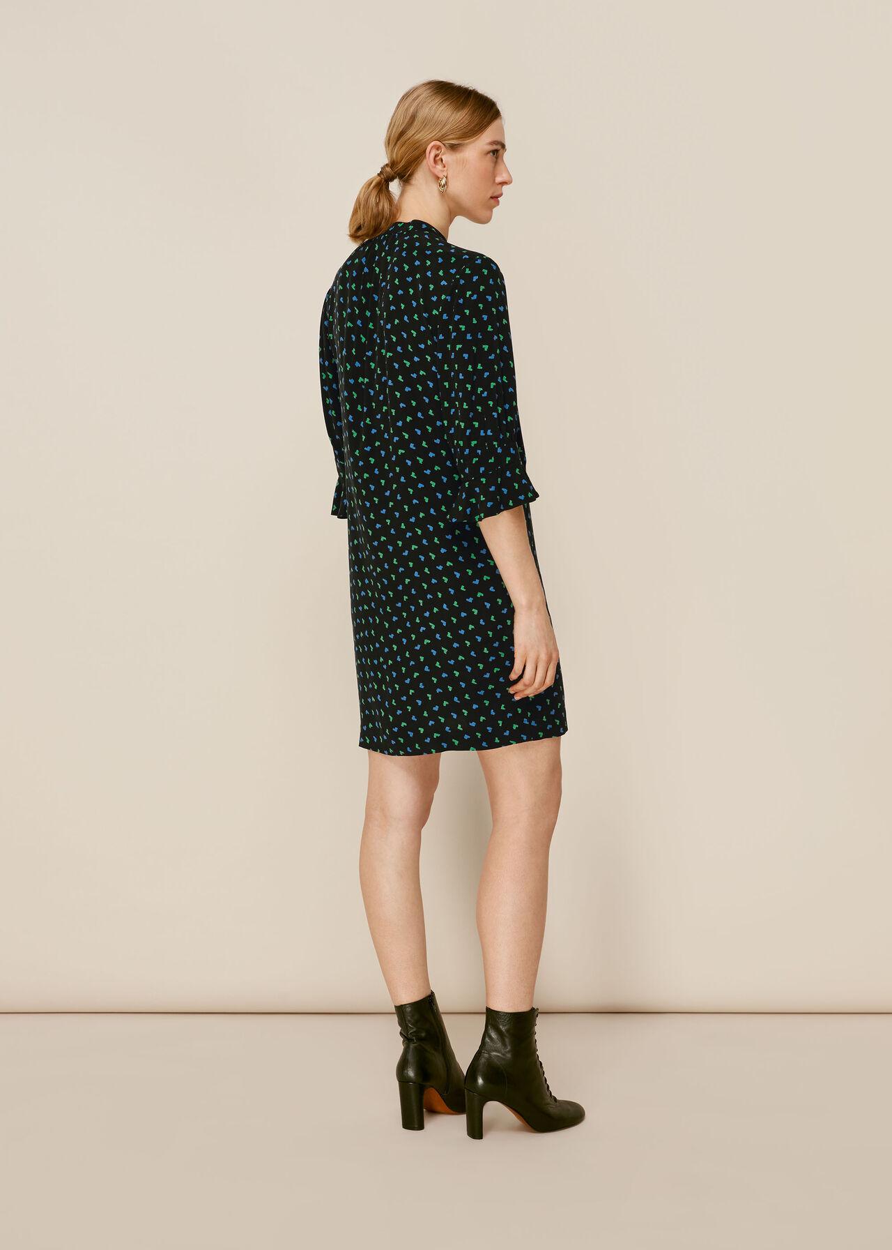 Heart Ikat Sonia Dress Multicolour
