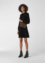 Pintuck Shirt Dress Black