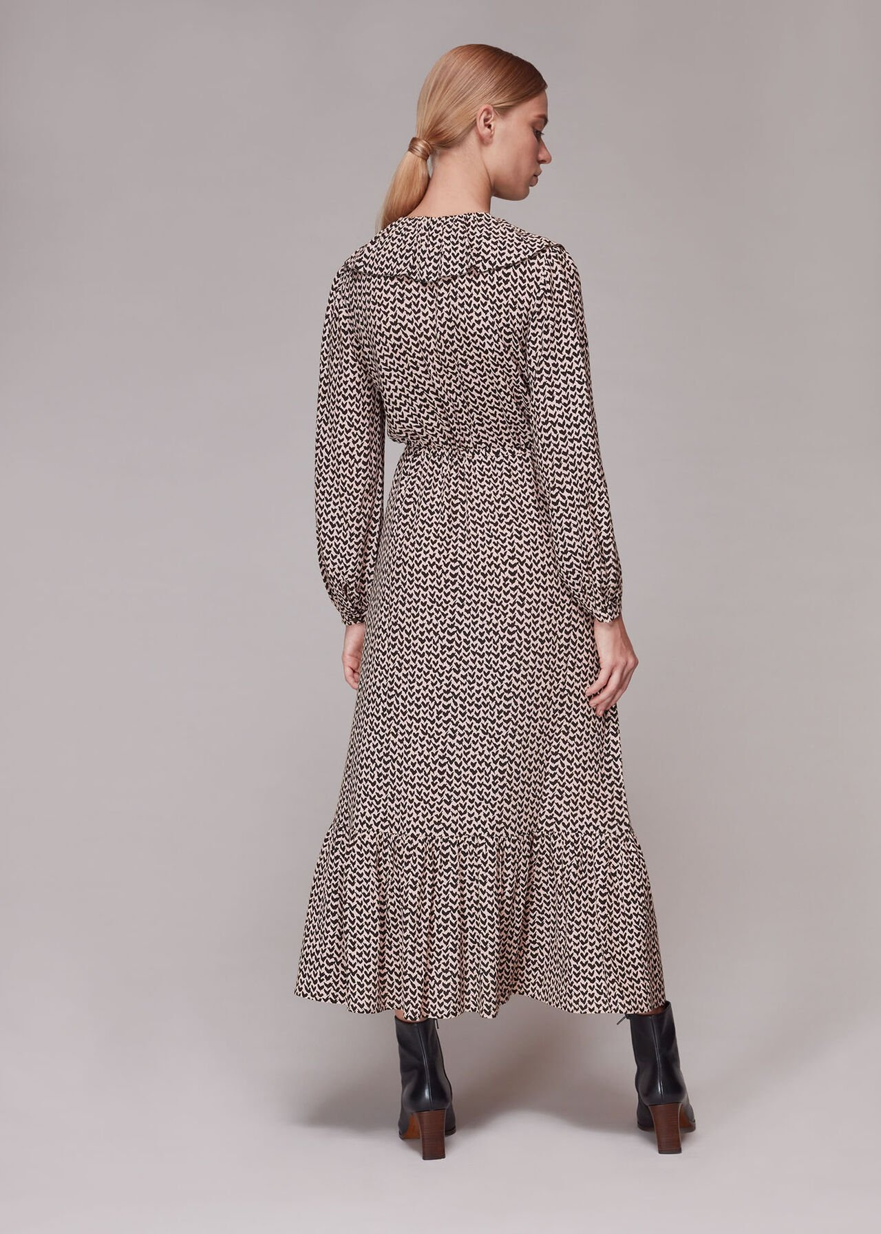 Abstract Heart Print Dress
