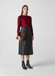 Animal Printed Knit Red