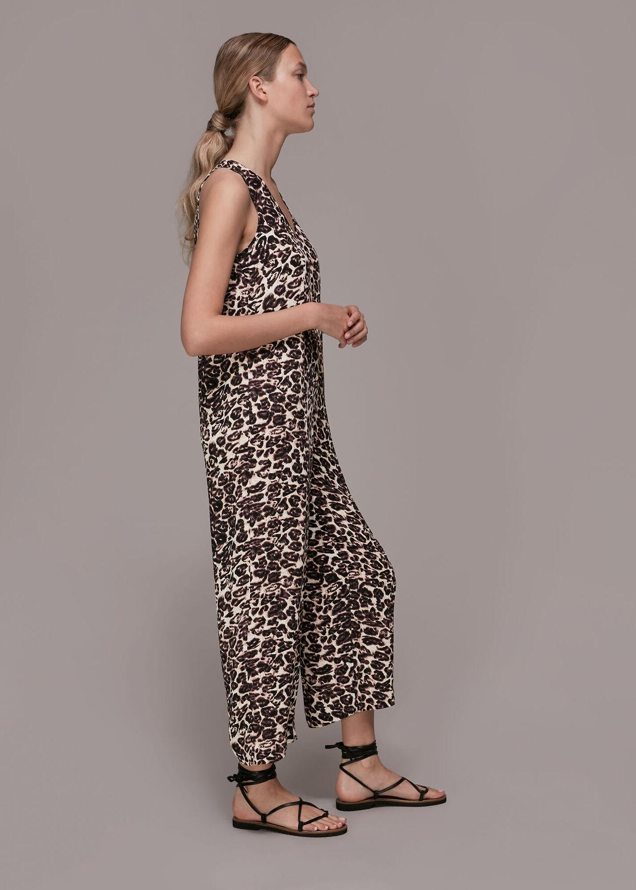 Clouded Leopard Print Jumpsuit
