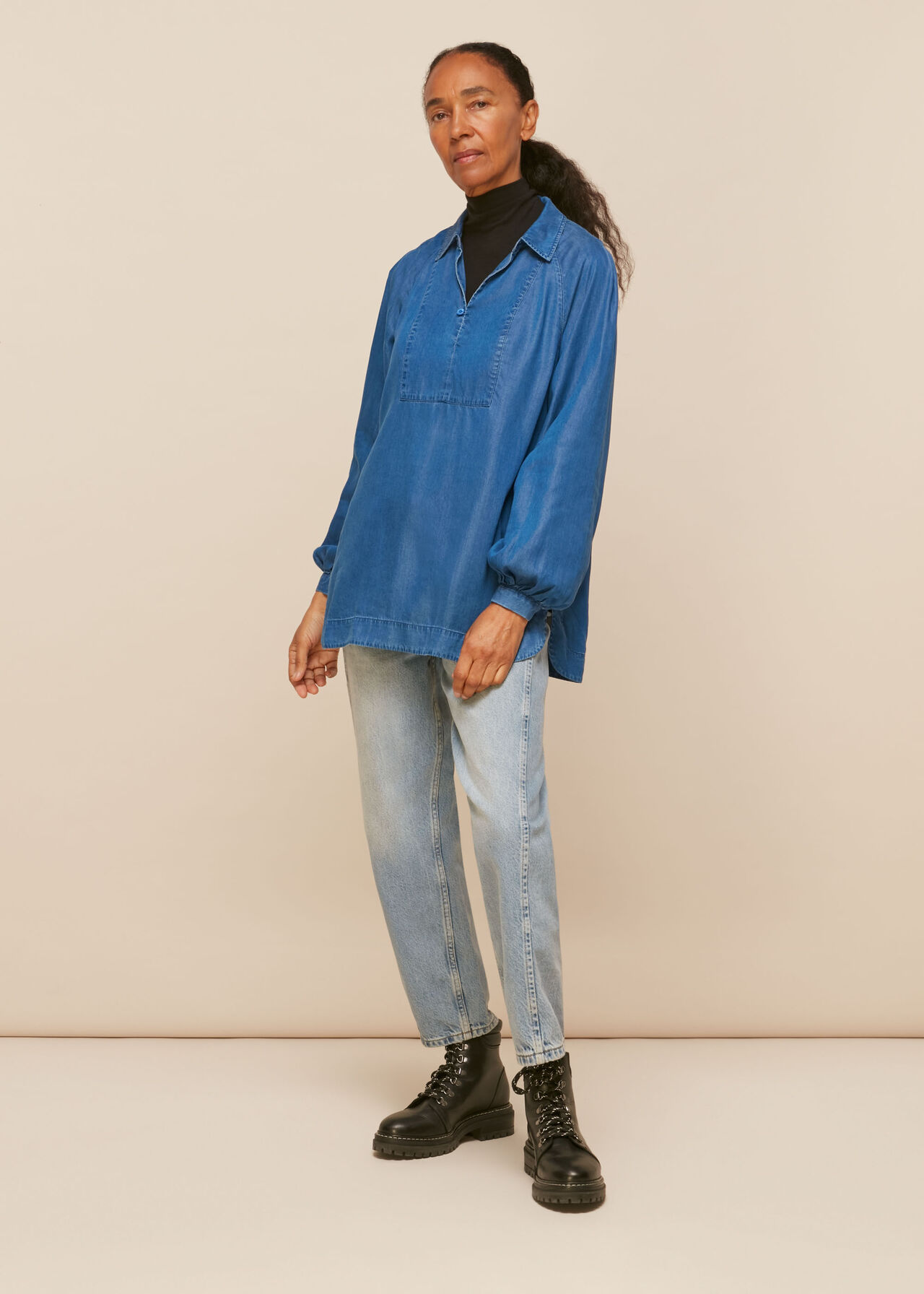 Chambray Longline Shirt