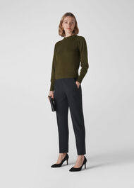 Puff Sleeve Knit Khaki