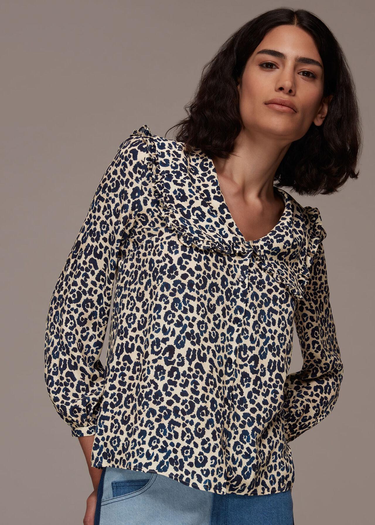 Cheetah Print Collar Top