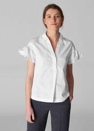 Frill Poplin Shirt
