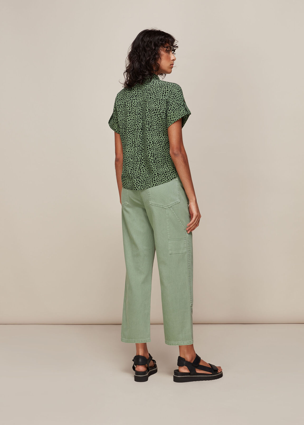 Spotted Animal Pocket Shirt Green/Multi