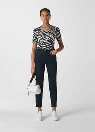 Zebra Print Rosa T-shirt Black/White