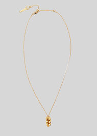 Cluster Drop Necklace Gold/Multi