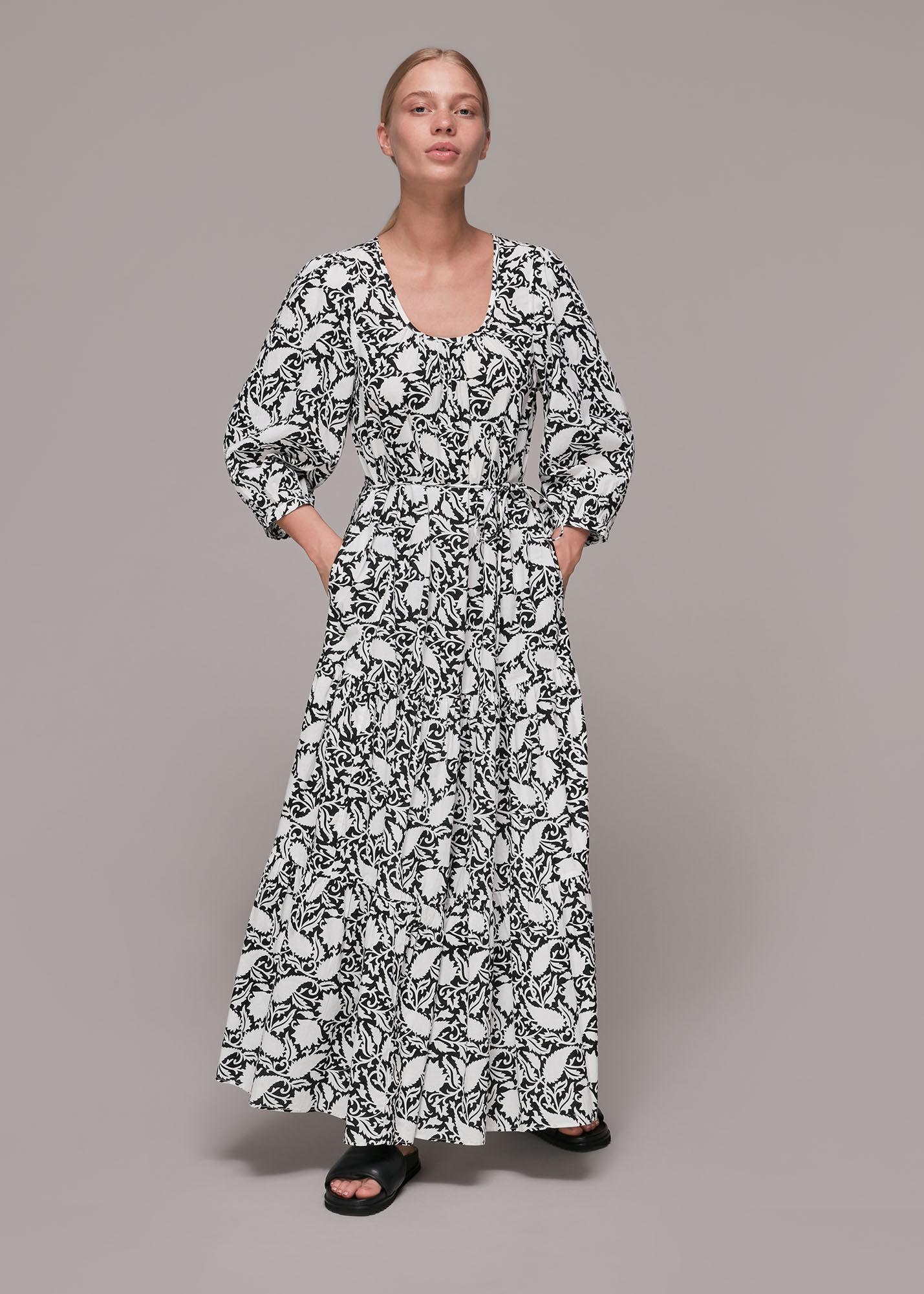 Whistles Women Floral Print Trapeze Dress