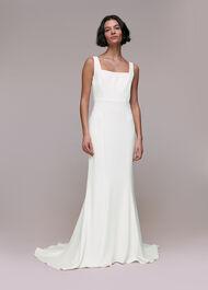 Mia Square Neck Wedding Dress Ivory