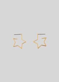 Mini Star Outline Earring Gold/Multi