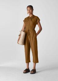 Fabiana Tie Detail Jumpsuit Olive
