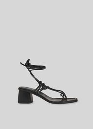 Roman Tie Leg Sandal Black