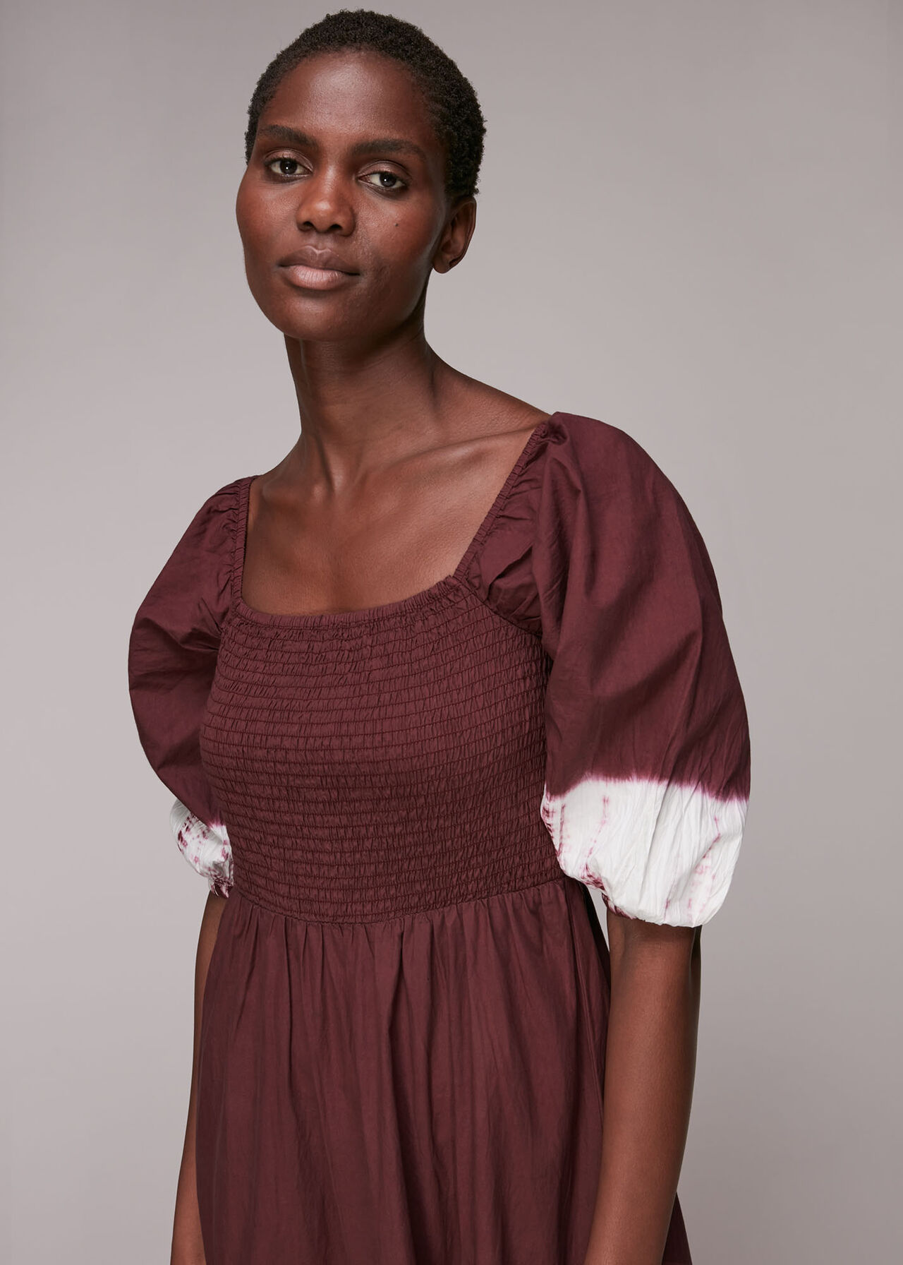 Libby Tie Dye Shirred Dress