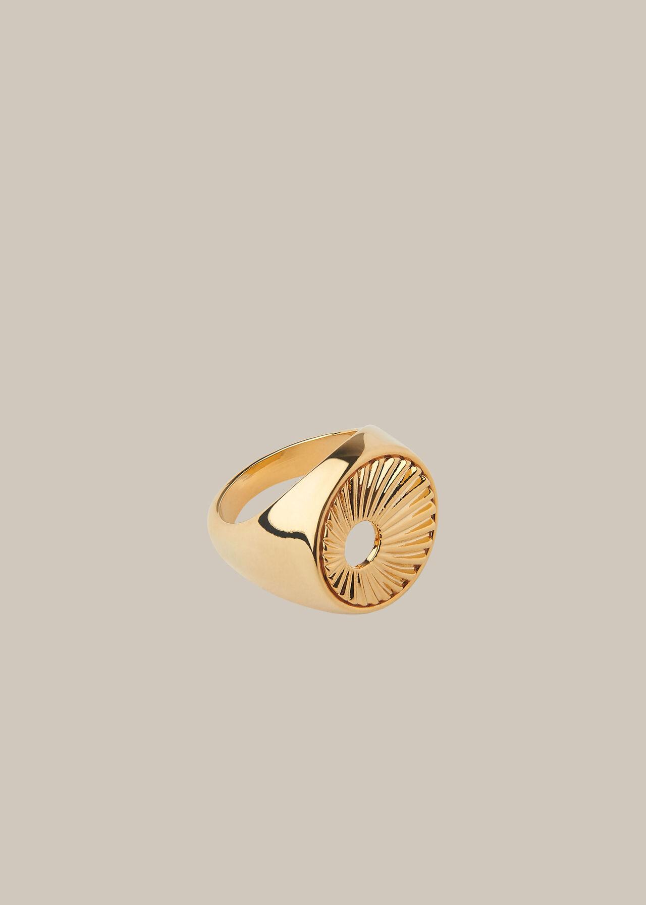 Sunray Signet Ring