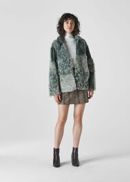 Hema Shearling Coat Mint