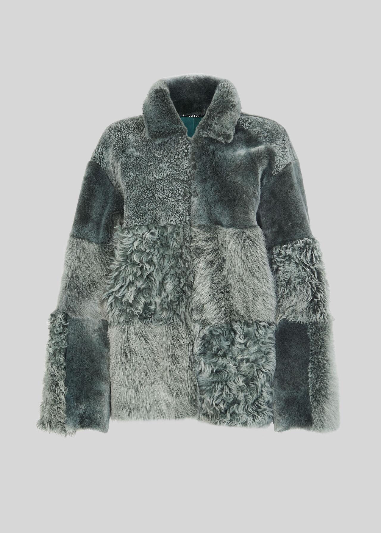 Hema Shearling Coat Mint