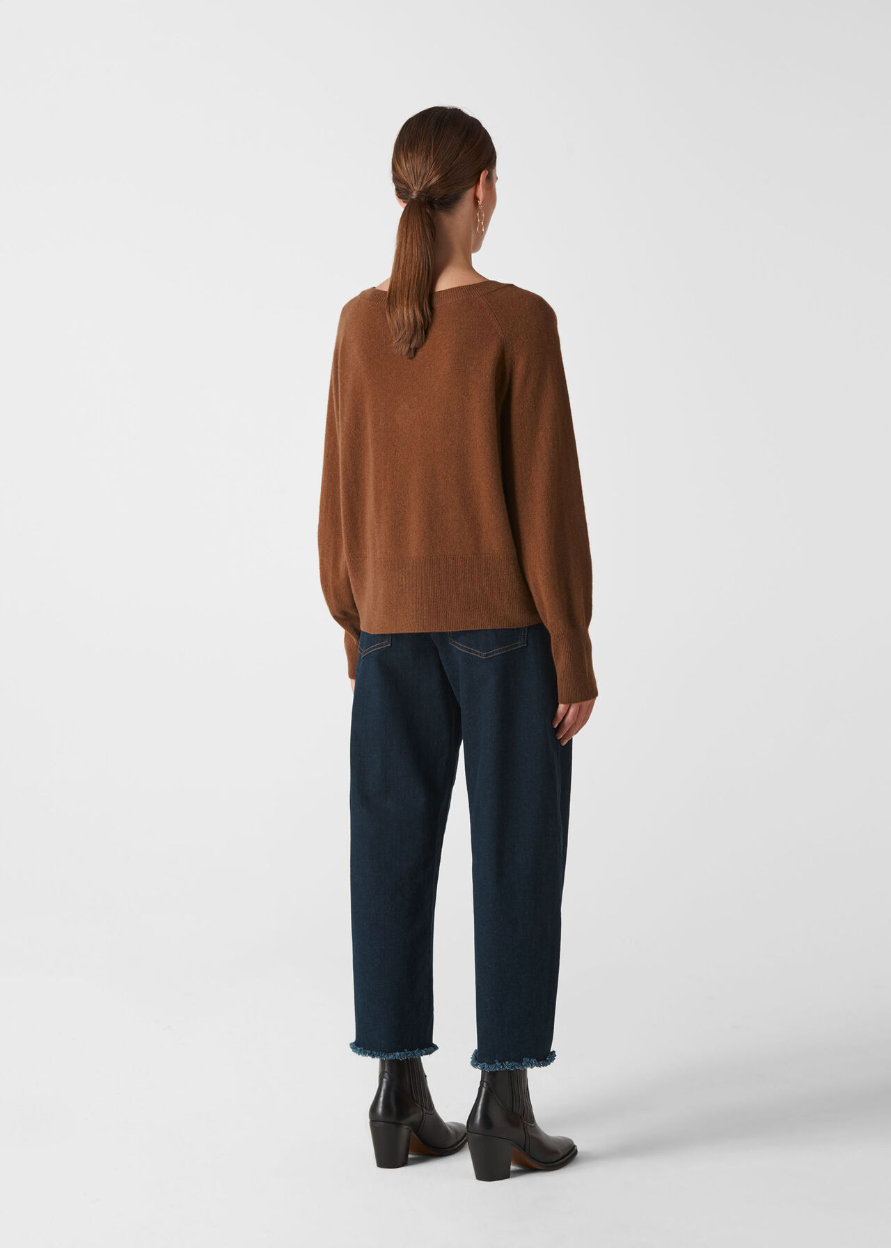 Sustainable Cashmere Jumper Camel