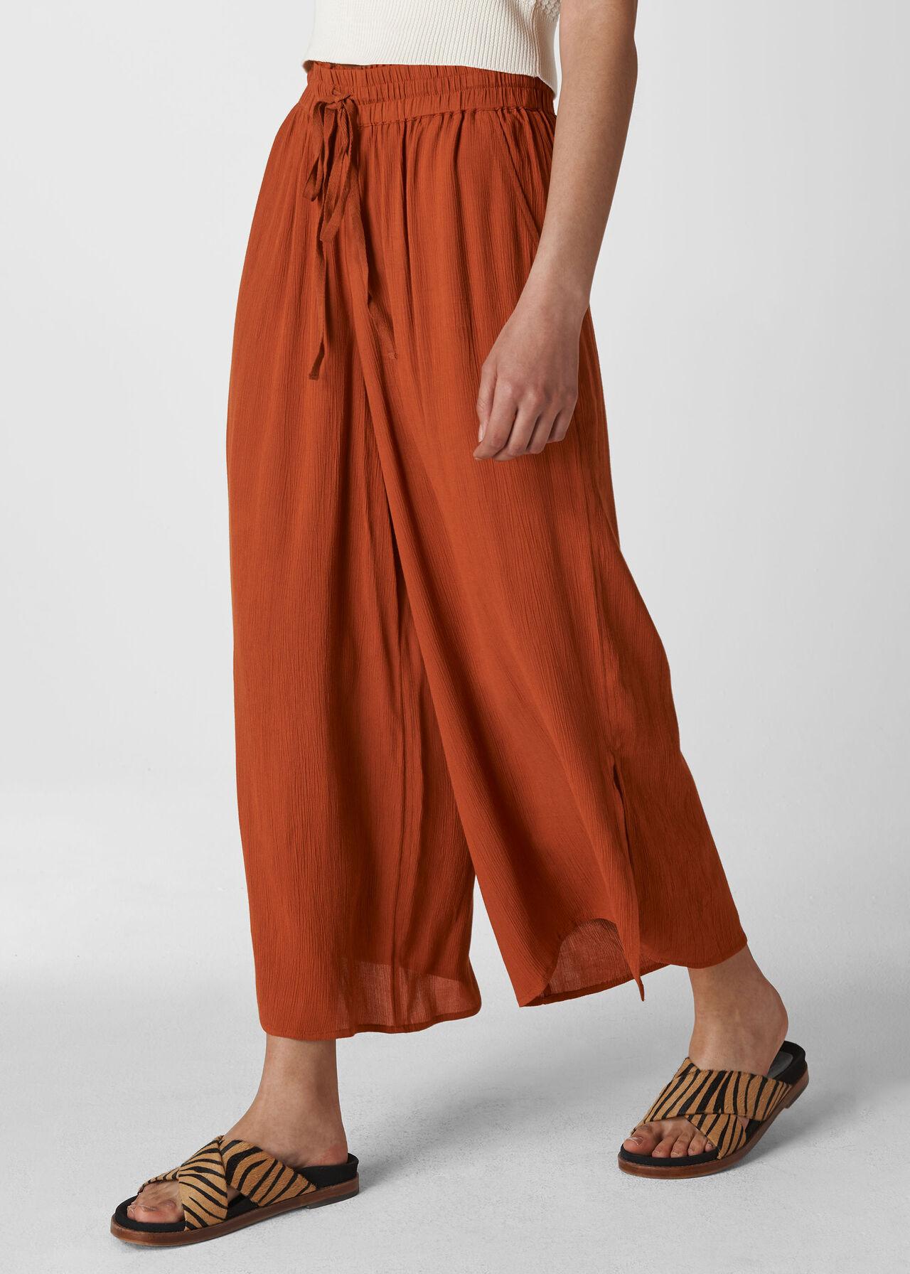 Fluid Crop Trouser Rust