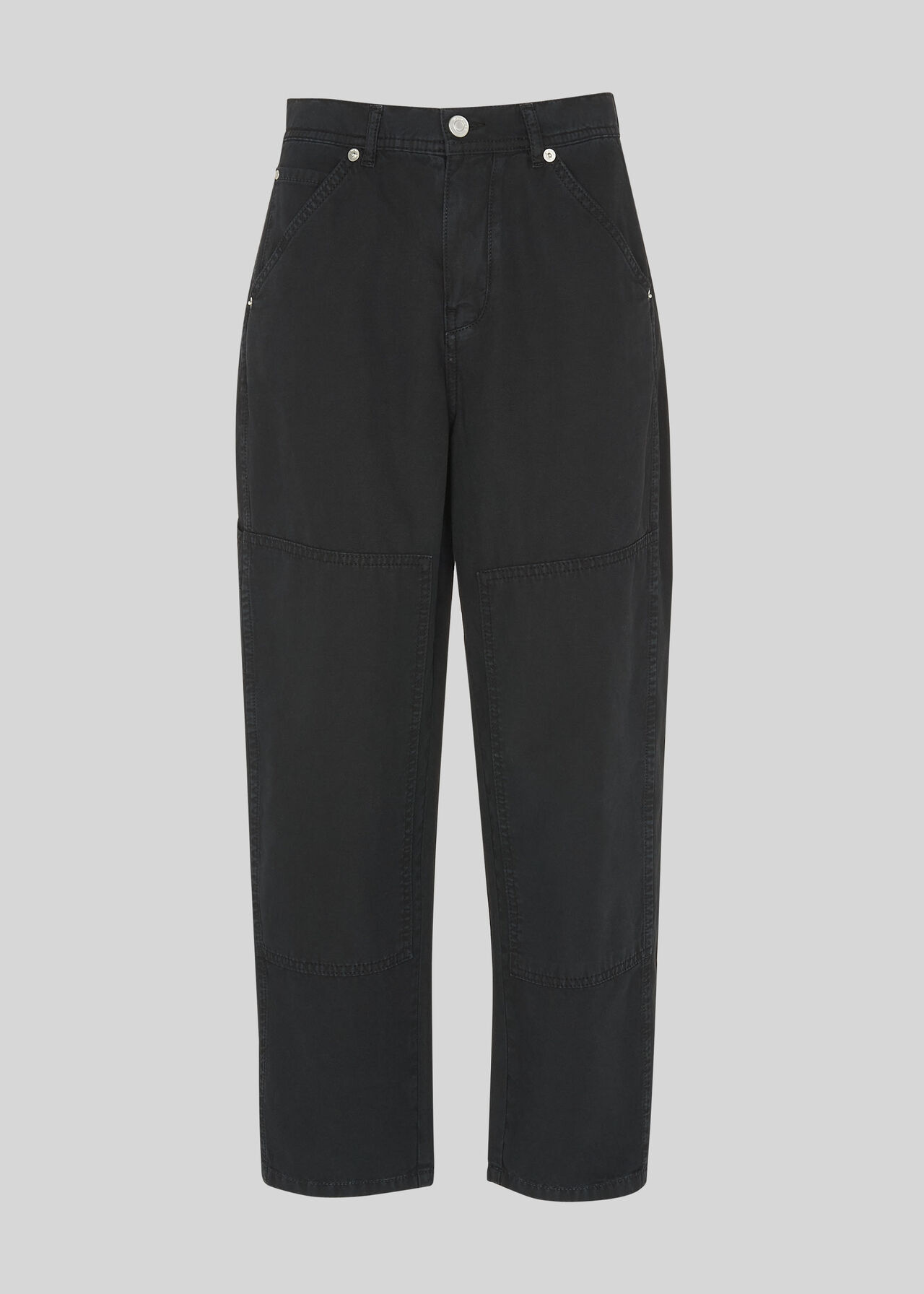 Cargo Panel Detail Trousers Black