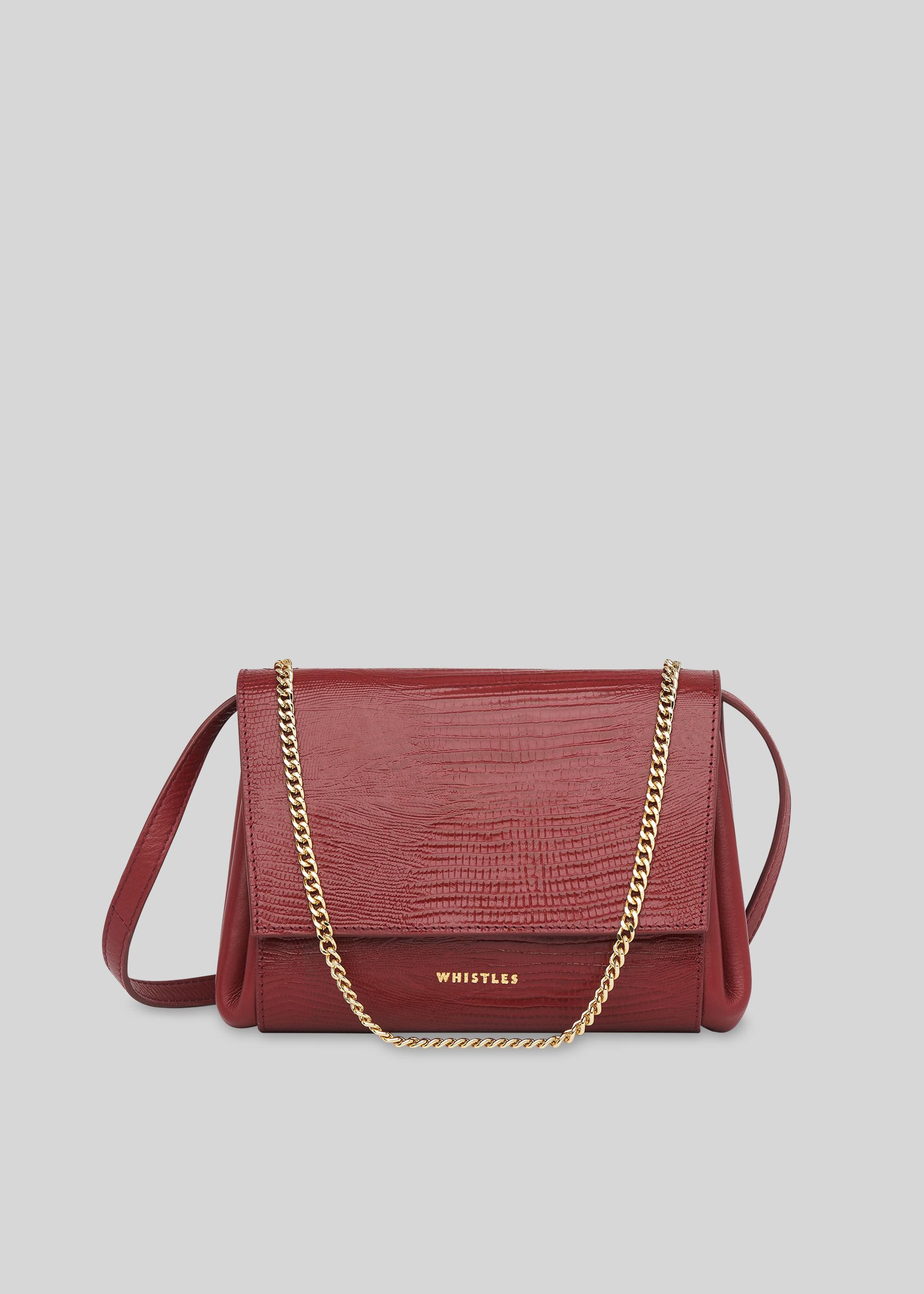 Whistles Women Eleni Lizard Crossbody Bag
