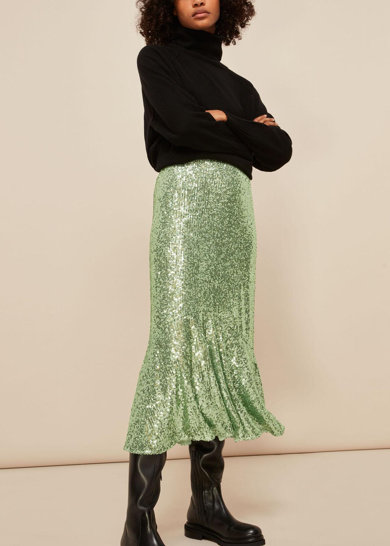 Suki Sequin Skirt