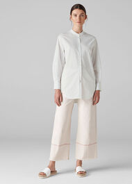 Eileen Longline Shirt White