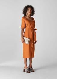 Ambika Linen Dress Rust