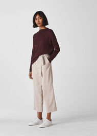 Relaxed Grown On Neck Knit Burgundy