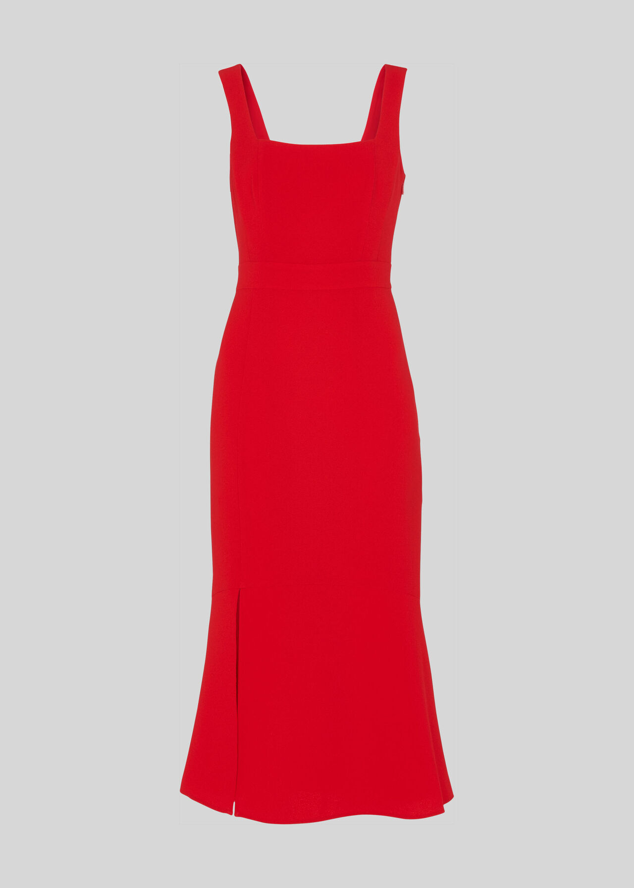 Milla Square Neck Dress Red