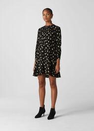 Edelweiss Print Shirt Dress Black/Multi
