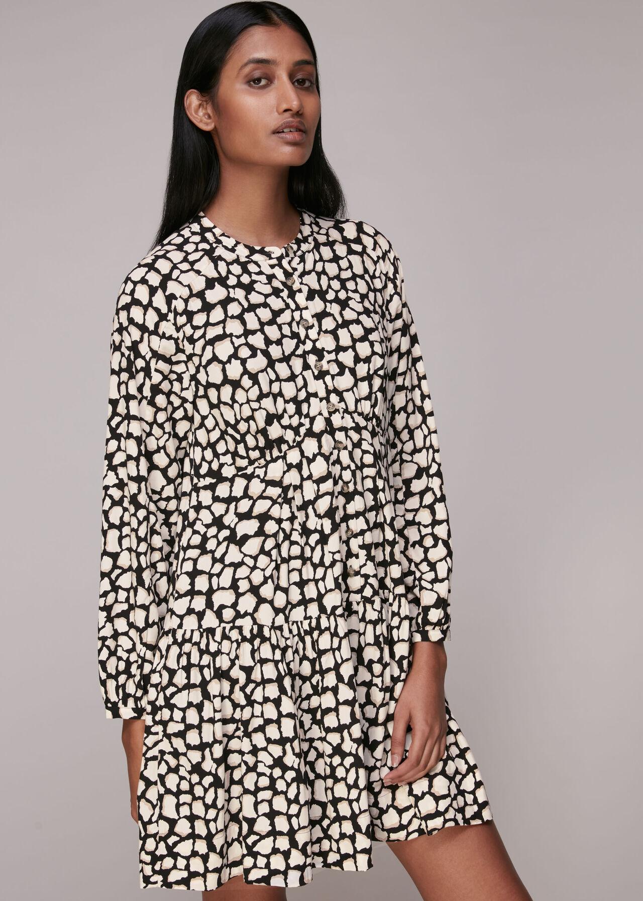 Giraffe Print Trapeze Dress