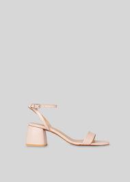 Hale Block Heel Sandal Pale Pink