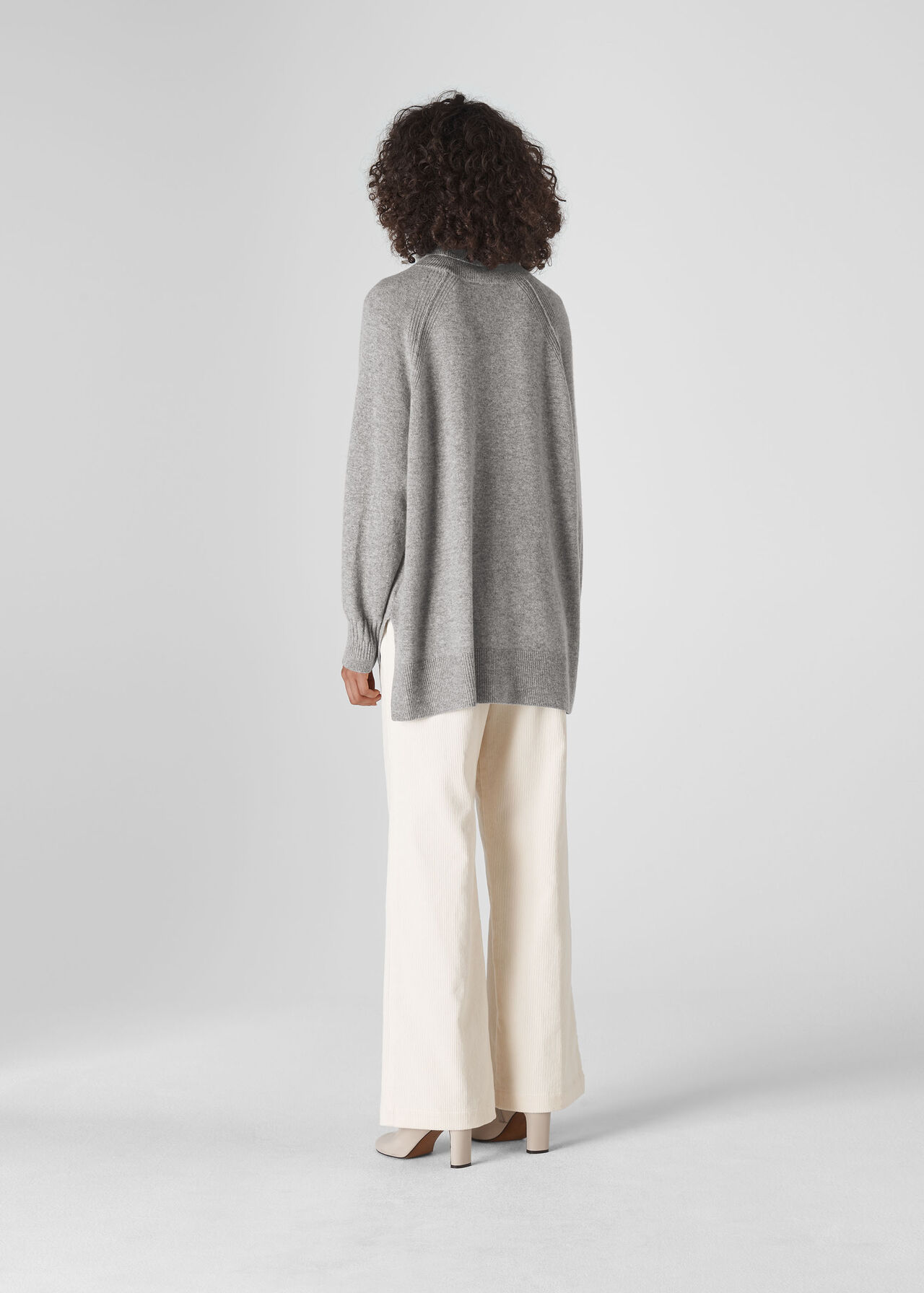 Cashmere Roll Neck Sweater Grey