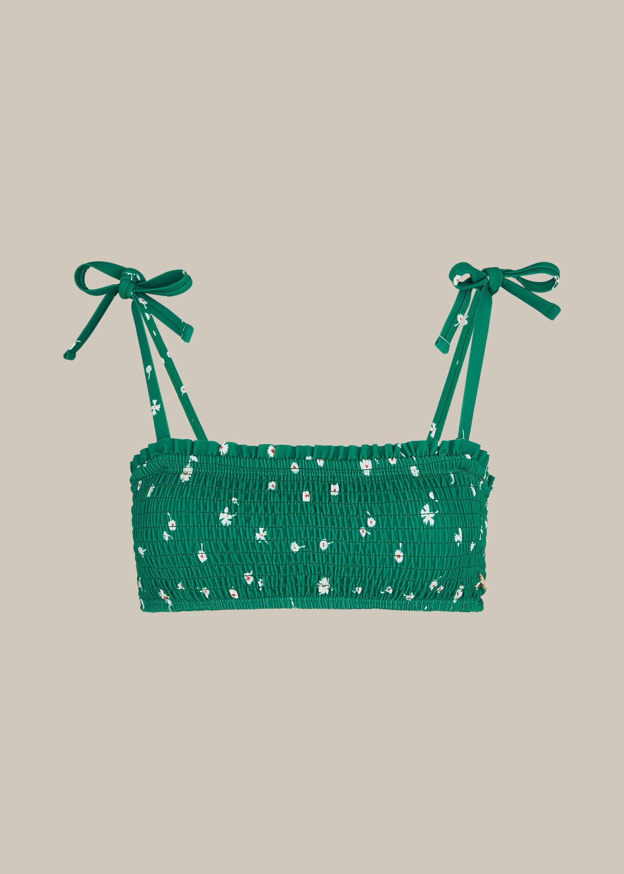 Primula Print Bikini Top Green/Multi